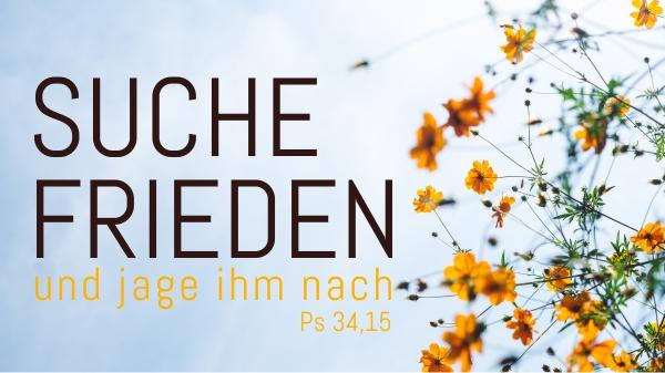 Suche Frieden und jage ihm nach!